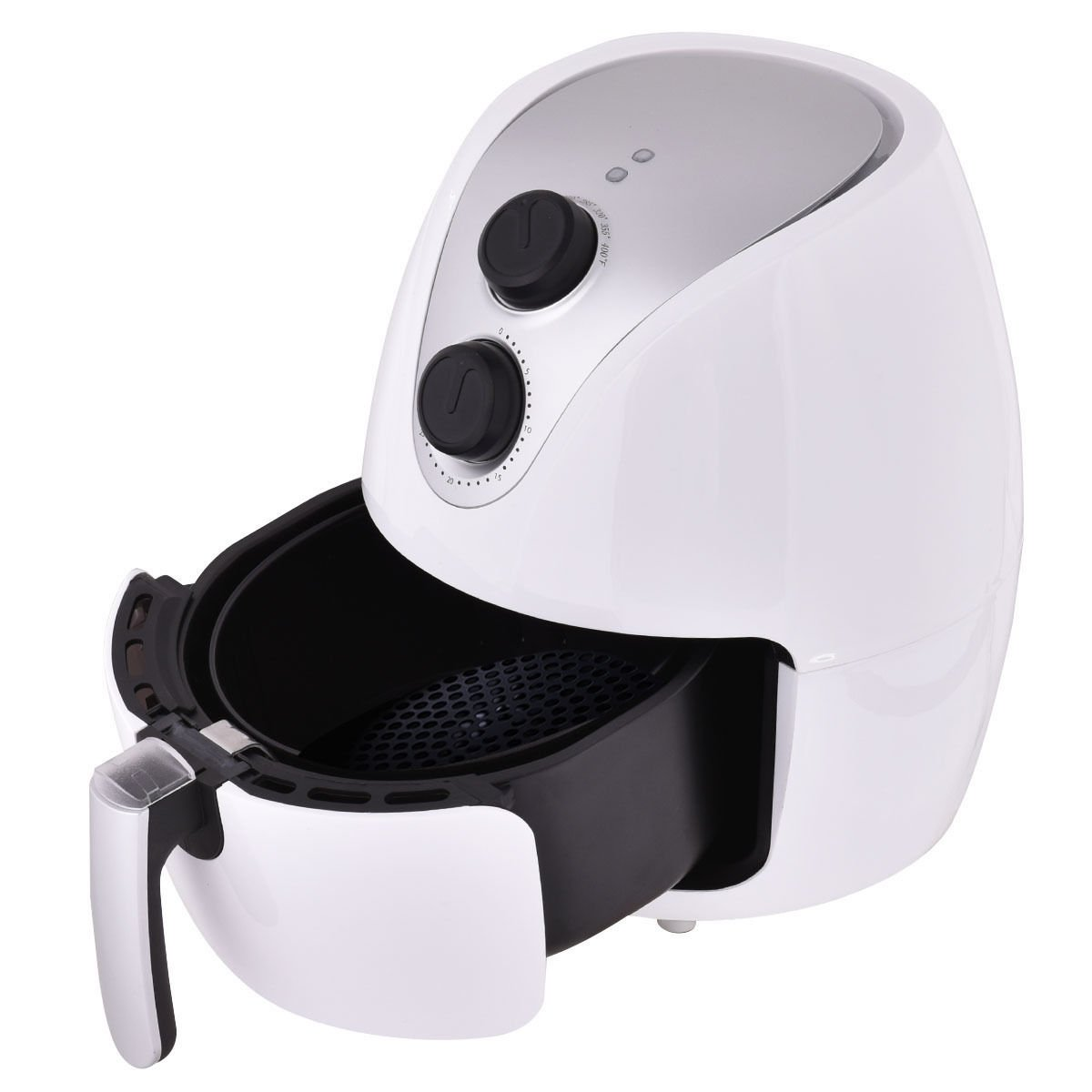MasterPanel - 1500W Electric Air Fryer Cooker with Rapid Air Circulation System Low-Fat White #TP3343