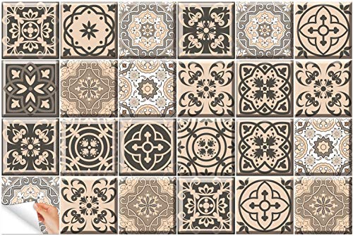 Amazon.com: Tile Stickers 24 PC Set Authentic Traditional Talavera Tiles Stickersl Bathroom & Kitchen Tile Decals Easy to Apply Just Peel & Stick Home Decor 6x6 Inch (Kitchen Backsplashes): Home & Kitchen