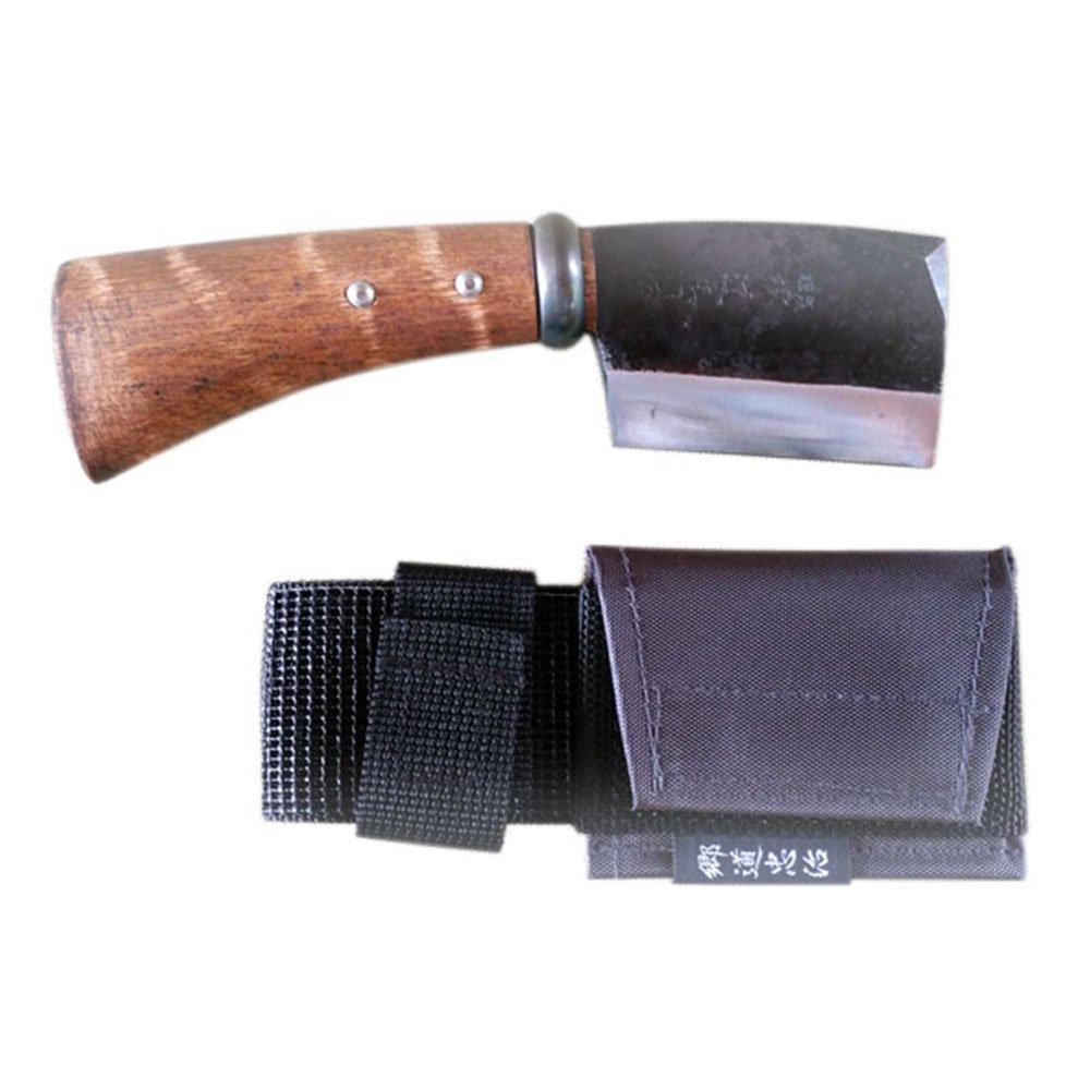 相田合同工場 短刀片刃鉈 藤乃鉈 本鍛造鋼付 二寸三分刃 70mm 鞘付 B00472MABY