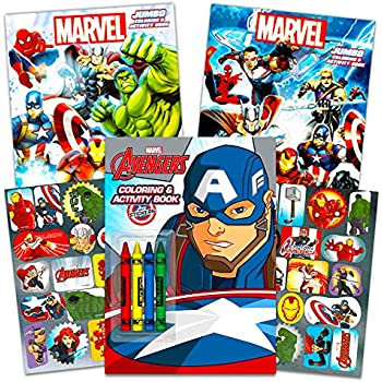 Marvel Avengers Coloring Book Super Set With Crayons 3 Jumbo Books