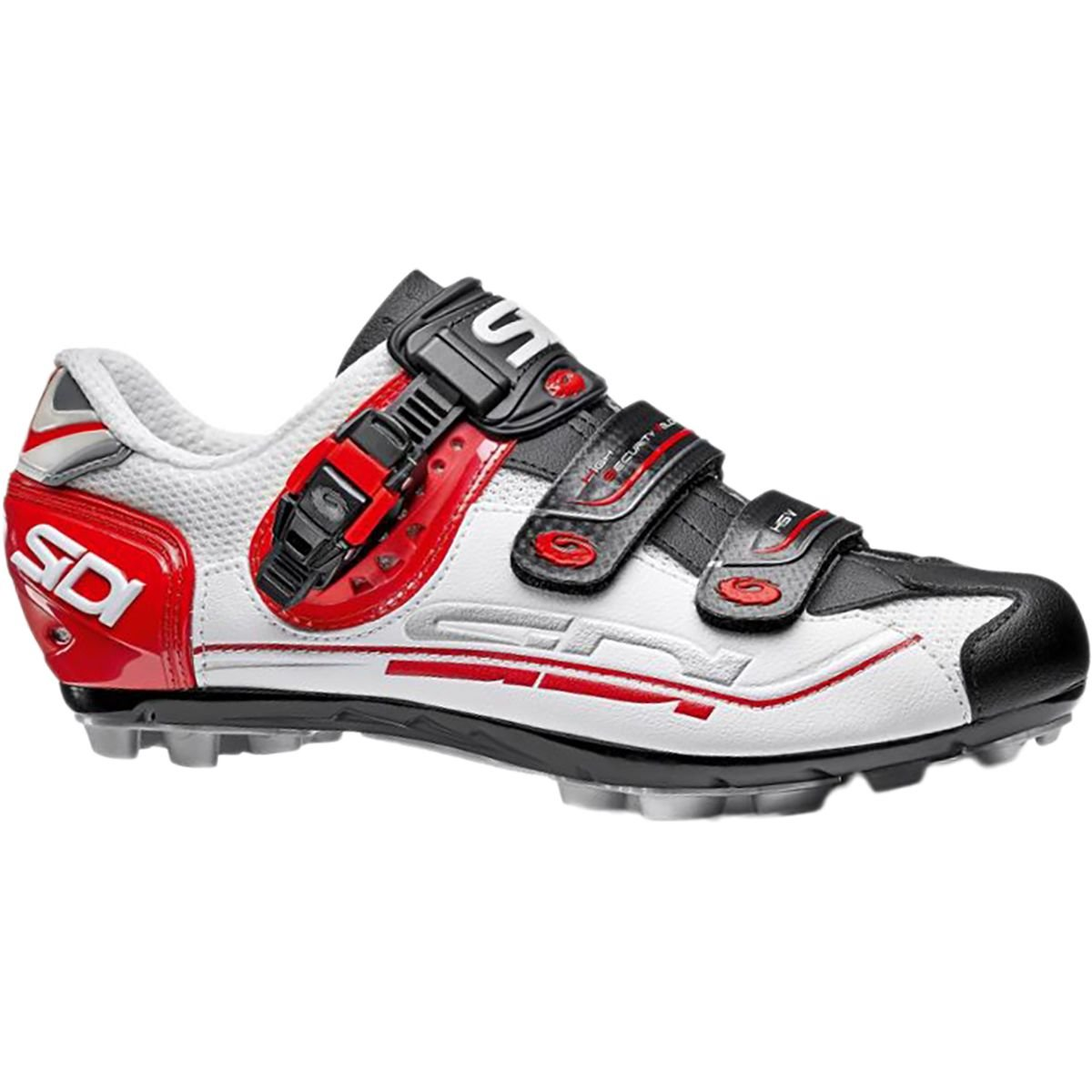 4ed74a2ef5c Galleon - Sidi Dominator Fit Cycling Shoe - Men s White Black Red ...
