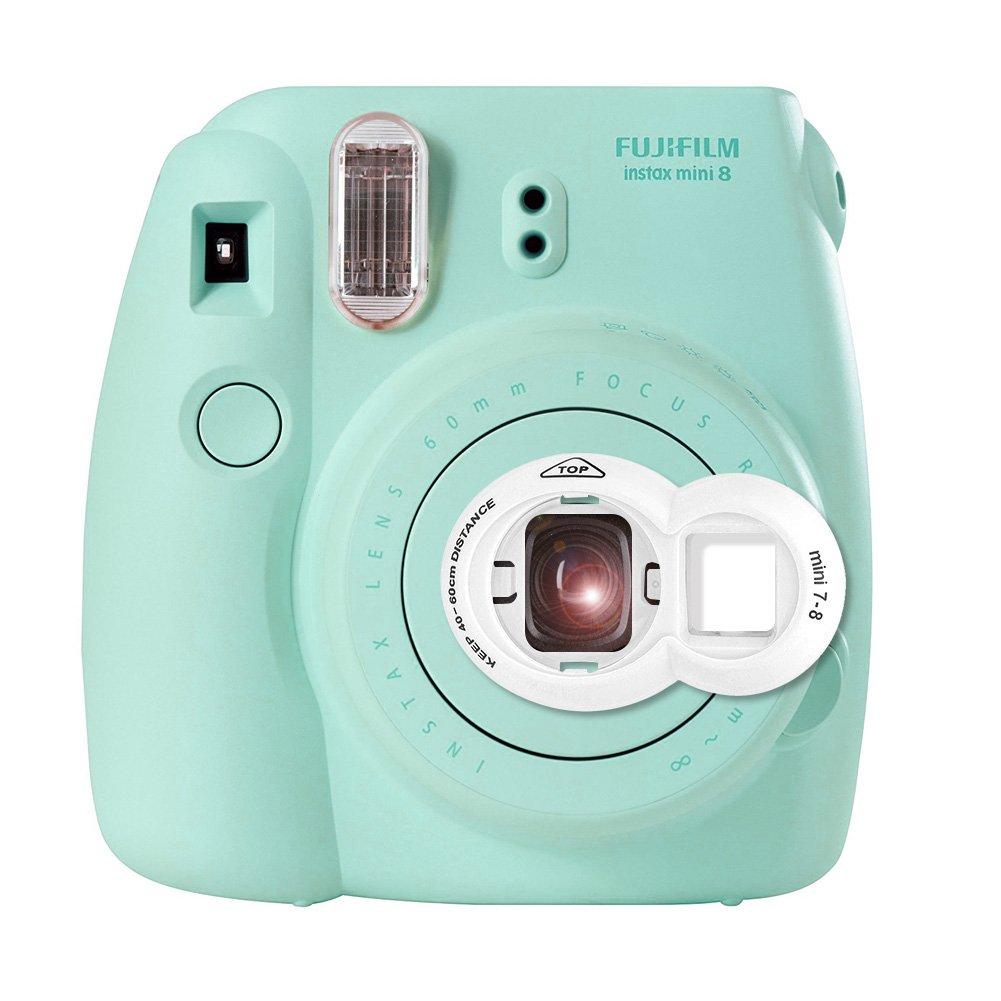 Fujifilm Instax Mini 8 Selfie Lens - Lalonovo Animal Style Instax Close Up Lens with Self-portrait Mirror For Fujifilm Instax Mini 8 Camera and Polaroid 300 Camera (White) fuji-lens-01