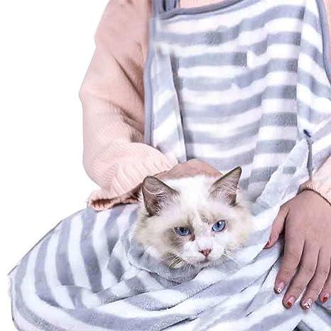 Saco de Dormir para Mascotas Abrazando Delantal Gato Perro de Bolsillo Anti-Adhesivo Suave Bolsa