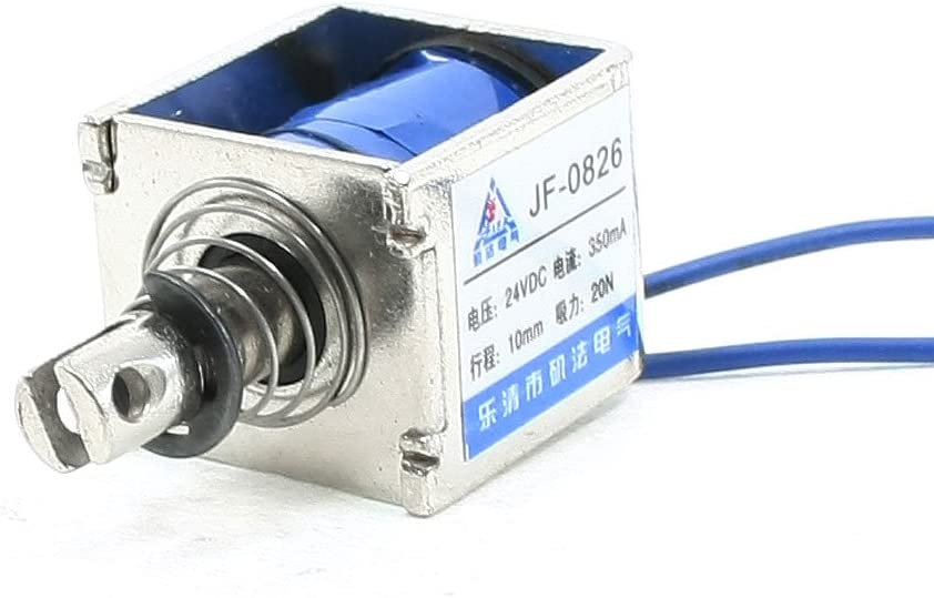 DC 24/V 300/mA pousser tirer type Cadre Ouvert sol/éno/ïde /Électroaimant 10/mm 5/N 0,5/kilogram