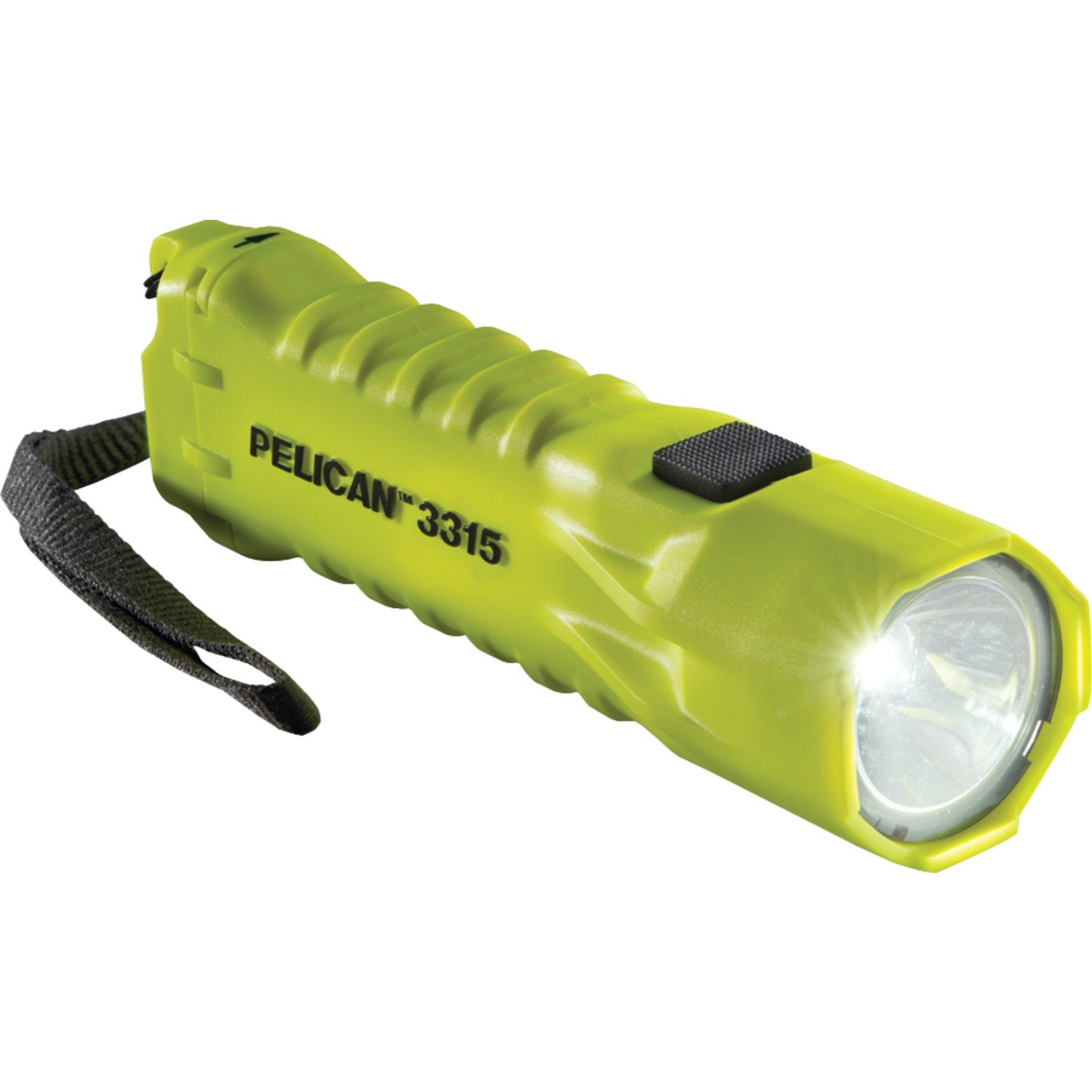 Pelican 033150-0100-245 Compact High Performance 113 Lumen LED Safety Approved Flashlight, Bright Yellow