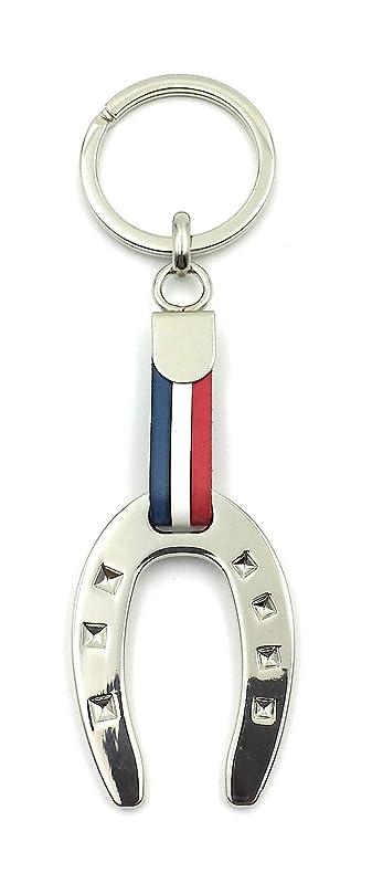 FJR-ArtPiel - Llavero bandera de Francia herradura de la suerte: Amazon.es: Handmade