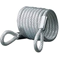 Master Lock Self Coiling Looped End Bike Cable Lock, 1.8 m Length x 6 mm Diameter