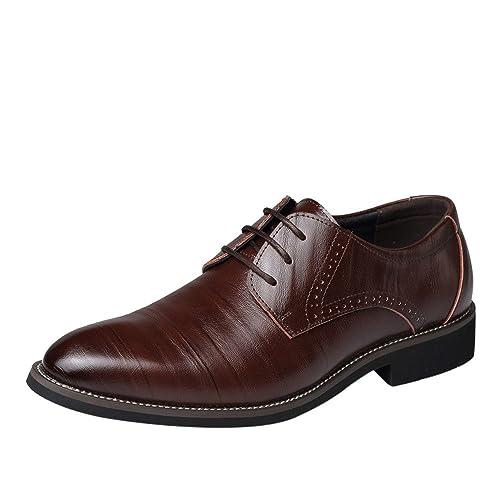 Chaussures Homme Chaussures Hommes Ville Cuir Souple Chaussures  décontractées de Style Classique pour Hommes, Respirant