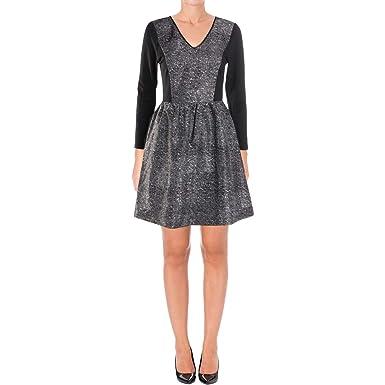 Kensie Womens Chiffon Lace Back Cocktail Dress B W Xs At Amazon