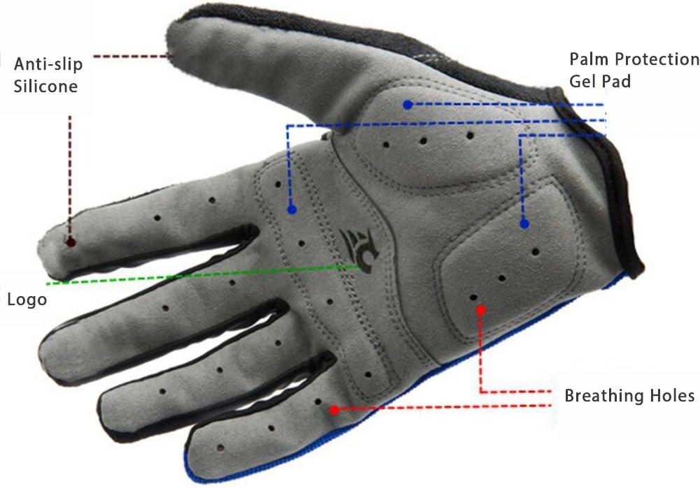 IKuaFly Guanti Moto Crossfit Gel Pad Palma Protezione Waterproof Bici Cislismo Windstopper Gym Gloves
