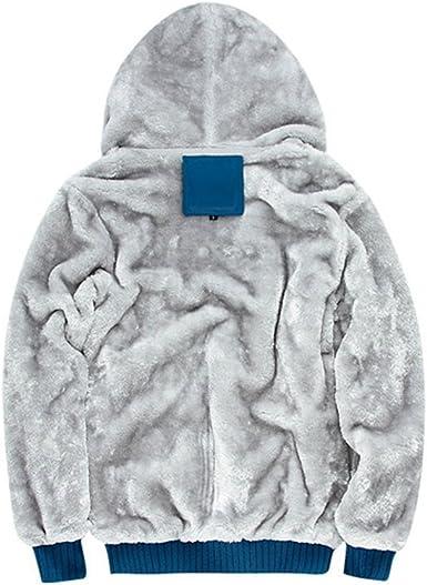 ZKOO Kapuzenpullover Herren Zipped Fleece Sweatjacke mit Kapuze Dicken Sweatshirt Kapuzenpulli Mantel Herbst Winter