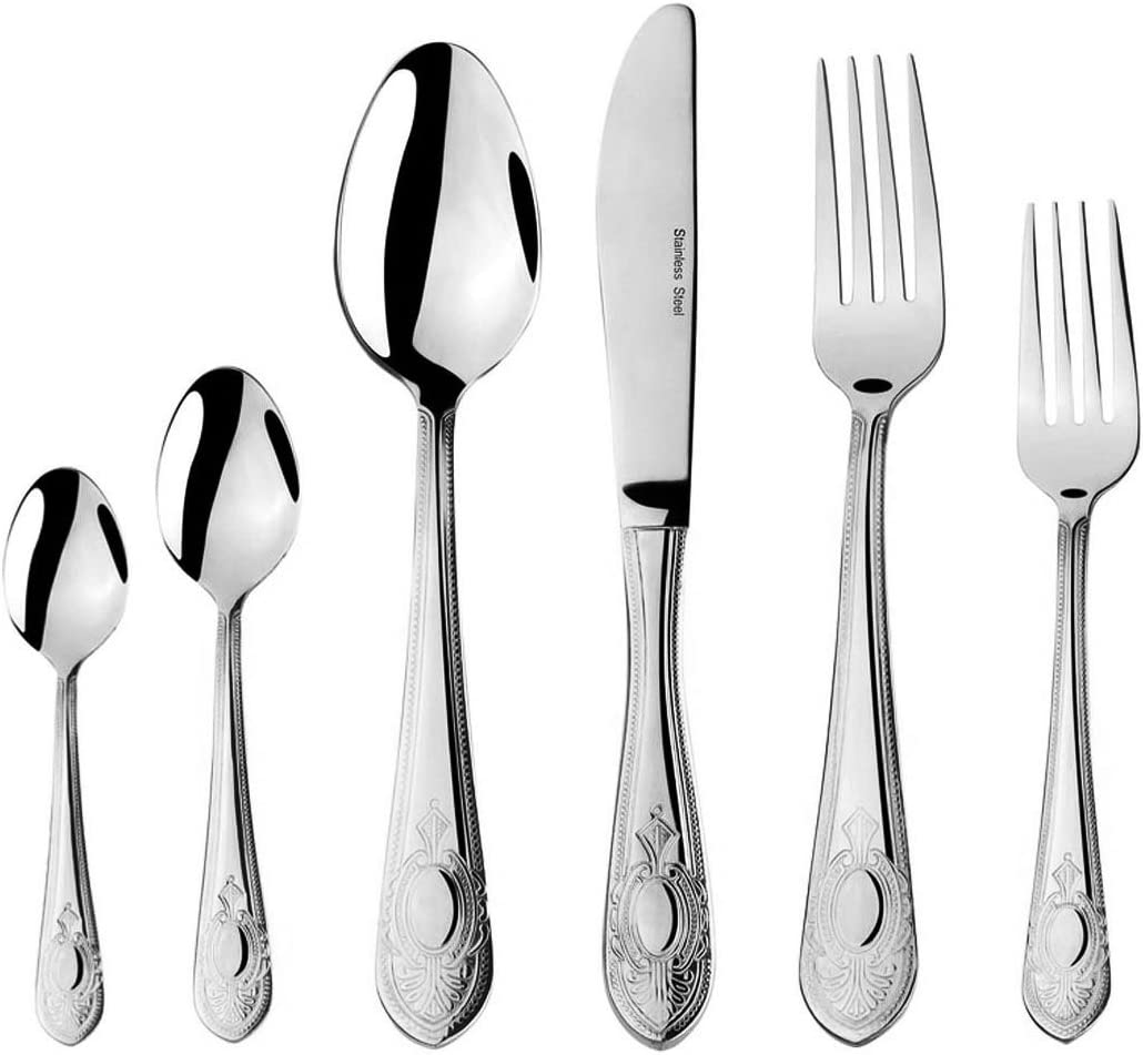 Mirror-Polished 18//10 Stainless Steel Serving Spoon Sets,Large Spoon Tabletop Flatware Serving Utensil Buffet Banquet Serving Tablespoons pack in 4