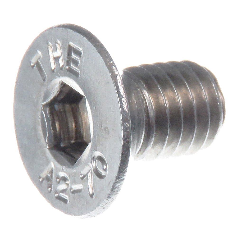 SECCARO Tornillo avellanado M6 x 10 mm, acero inoxidable V2A VA A2, DIN 7991 / ISO 10642, hexá gono interior, 20 piezas hexágono interior ecomserv