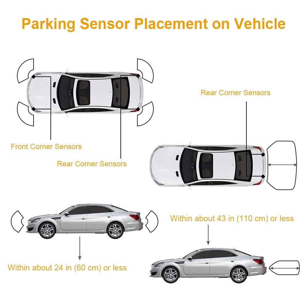 OCPTY Parking Assist Sensor Backup Bumper Sensor fit for 15-17 Cadillac Escalade GMC Sierra 1500//2500 3500 HD//Yukon XL,17 18 Buick Encore Lacrosse,16 17 Cadillac CT6 XT5,14-17 Cadillac CTS XTS,2 Pack