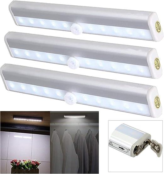 LED Schranklampe Nachtlicht mit Bewegungsmelder-Sensor Unterbauleuchte Batterie