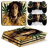 CSBC Skins Sony PS4 Pro Design Foils Faceplate Set - Bob Marley Design
