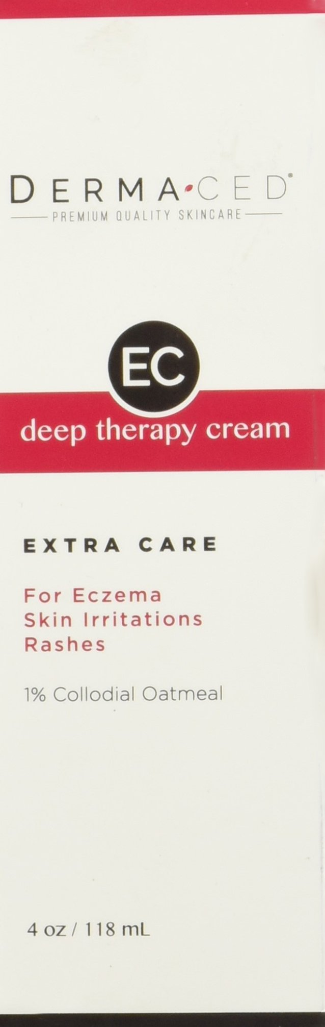 Deep Therapy Cream EC for Fast Eczema and Psoriasis Support | Unscented | Colloidal Oatmeal (1%), Jojoba Oil, Licorice, Beeswax & More