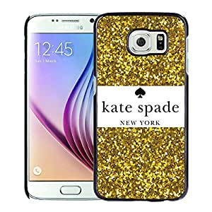 Unique Custom Designed Kate Spade Cover Case For Samsung Galaxy S6 Black Phone Case 206