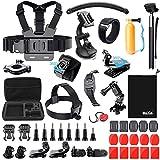BAXIA TECHNOLOGY Camera Accessories Bundle Kit for GoPro HERO 5 Session 4 3+ 3 2 1 Black Silver SJ4000/5000/6000, Sports Camera Accessories for Xiaomi Yi/ AKASO/ WiMiUS/ Lightdow/ DBPOWER/ APEMAN/ Aokon/ ANART