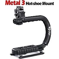 Zeadio Estabilizador portátil con 3 zócalo Accesorio para Canon, Nikon, Pentax, Sony, Panasonic, Samsung y Olympus cámara videocámara