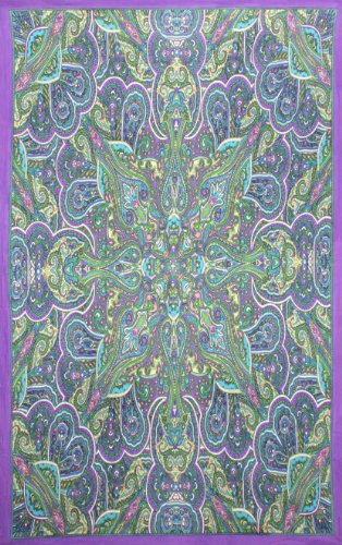 Sunshine Joy Kaleidoscope Paisley Tapestry Tablecloth