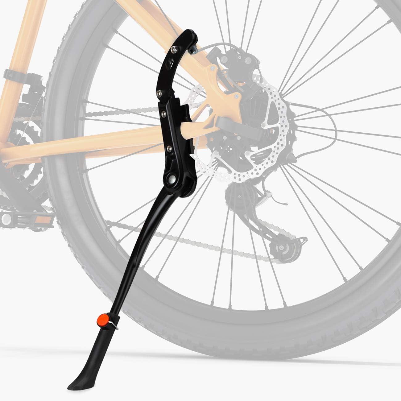 Favoto Pata de Cabra para Bicicleta, Soporte de Bicicleta de Altura Ajustable Aluminio Aleación Plegable para Bicicleta de Montaña Carretera 24