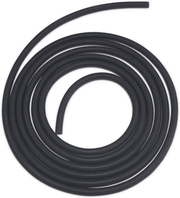 , Black Ronteix Universal High Performance Vaccum Silicone Hose Tubing Line 5 Feet Length 2MM 1//12 Inch