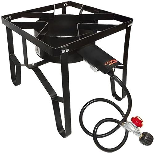 Propane Portable Gas Stove Burner Camper Cooker High Pressure UL Regulator BBQ
