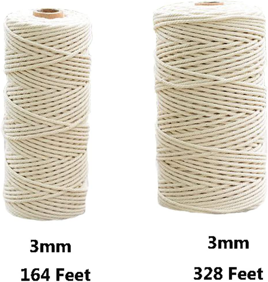 Macrame Cord 1mm x 1312 Feet,100/% Natural Cotton Rope String,Cotton Cord Twine for Wall Hanging Plant Hangers Crafts Knitting Decorative Projects Soft Cotton Rope Natural-1-400 MS6
