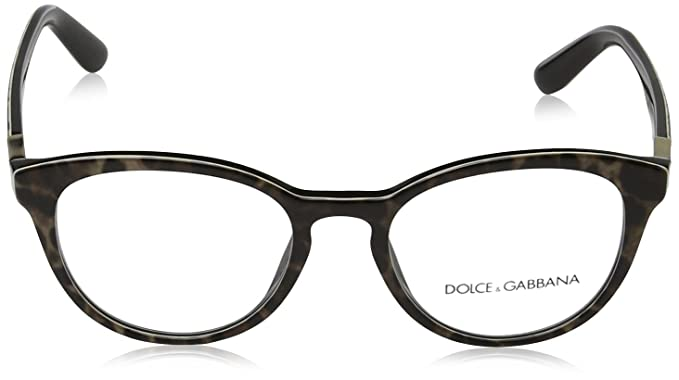 Dolce   Gabbana dg3268 lunettes en léopard sur fond noir DG3268 1995 50  Leopard Clear 50  Amazon.fr  Vêtements et accessoires 55517e360a75