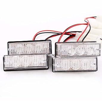 Luces LED - TOOGOO(R)12 LED Emergencia Luces Estroboscopicas ...