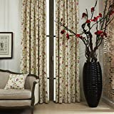 100″W x 102″L (Set of 1 panel) 20 size available Custom Modern Country Rustic Floral Branches Cotton Polyester Blend Print Grommet Top Lined Blackout Window Treatment Draperies & Curtains Panels Review
