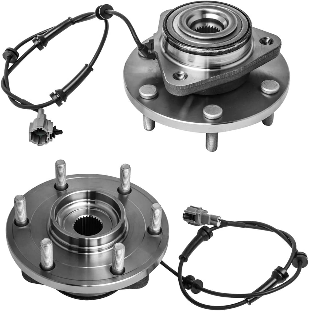 MACEL 515066 Front Wheel Hub Bearing Assembly for 2004-2007 Infiniti QX56 Nissan Armada Titan 6 Lugs W//ABS