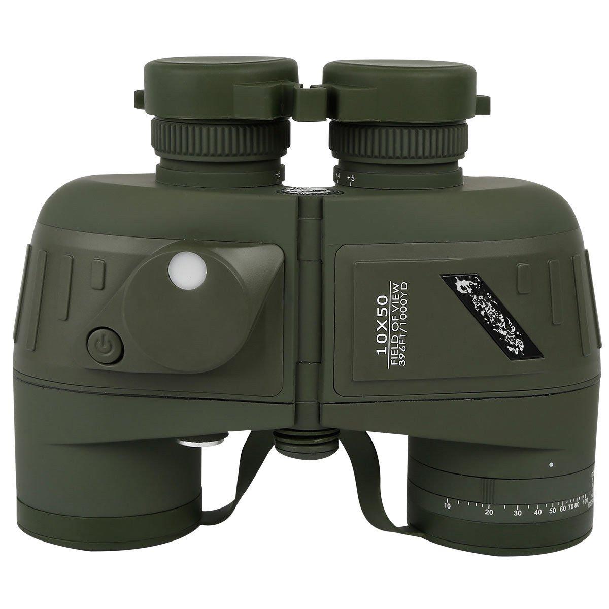 Tengchang 10X50 Night Vision Binoculars w/Rangefinder&Compass Marine by Tengchang