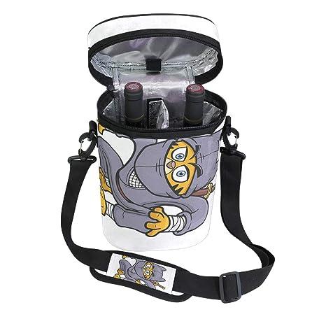 Amazon.com | Jacksome Ninja Cat Insulated Wine Carrier Tote ...