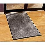 Guardian Silver Series Indoor Walk-Off Floor Mat, Vinyl/Polypropylene, 4'x60', Sable