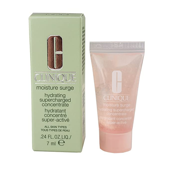 Clinique Moisture Surge Hydrating Supercharged Concentrate Face Serum Travel Size 24oz Beauty