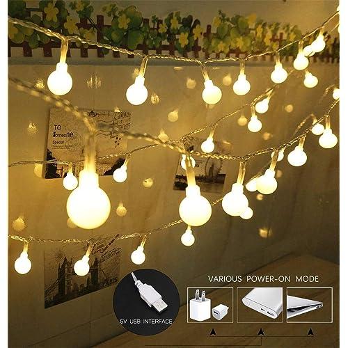 100 led globe string lights ball christmas lights indooroutdoor decorative light - White Christmas Lights Amazon