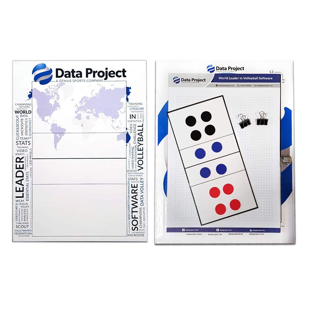Data Project Cartellina Tattica Pallavolo con Porta Tablet + Campo Magnetico Adesivo/Tactic Board for Volleyball