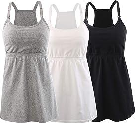 dabdee924c31f Topwhere Pregnancy Breastfeeding Shirt, Maternity Nursing Top Sleep Cami  Women Basic Vest