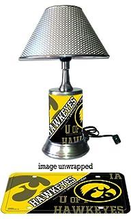 Iowa Hawkeyes Lamp With Chrome Shade