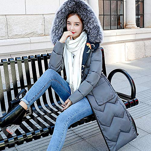 NUWFOR Womens Trim Hooded Warm Coats Parkas with Faux Fur Jackets for Winter(Gray,3XL) by NUWFOR (Image #3)