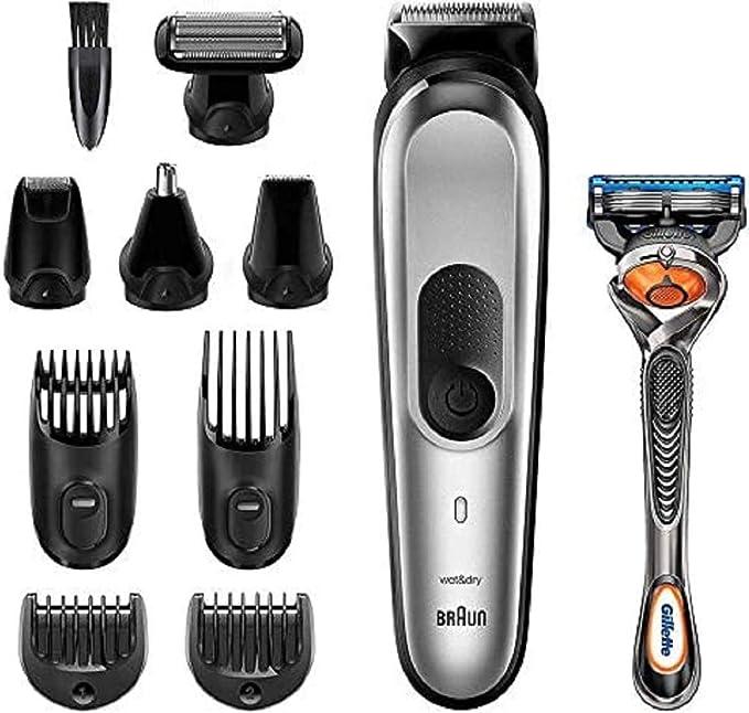 Braun MGK7020 10 en 1, Máquina recortadora barba y cortapelos todo ...