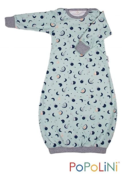 iobio Dormir Camisa Avispas de Saco de Dormir de algodón ecológico Luna Oso Azul Small: Amazon.es: Ropa y accesorios