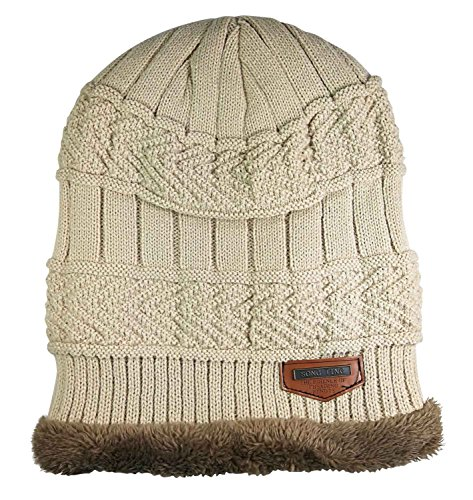 5877cd0339fe HINDAWI Winter Hats for Women Slouchy Beanie Snow Ski Knit Warm Skull Caps  Beige