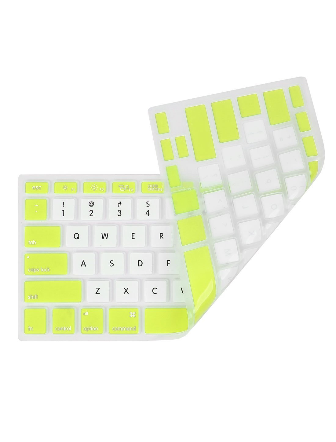 Amazon.com: eDealMax Teclado Blanco Verde de la cubierta protectora de la piel Para Apple MacBook Air 13,3: Electronics