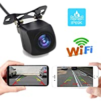 PolarLander WiFi Reversing Camera Dash Cam Star Night Vision Car Rear View Camera Mini Body Water-Proof Tachograph for iPhone and Android