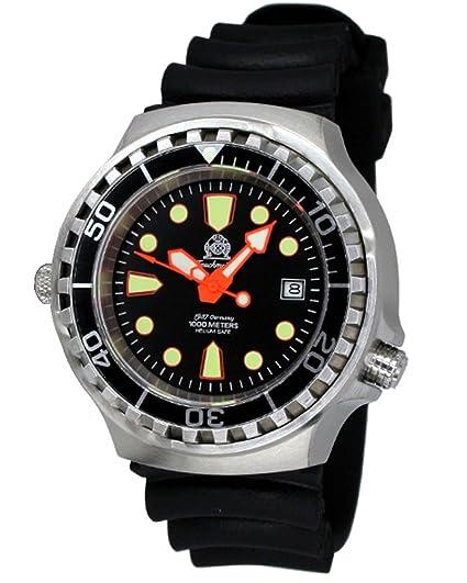 Tauchmeister automática, 1000 m reloj de buceo con válvula de helium liberación y Sapphire T0264: Amazon.es: Relojes