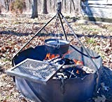 36″ Steel Fire Ring + Tri Pod + Swing Grate Review