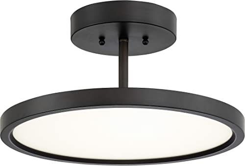 Quoizel BLW1715OI Beltway Modern LED Semi-Flush Ceiling Lighting, 1-Light, 30 Watt, Oil Rubbed Bronze 6 H x 15 W